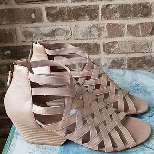 Eileen Fisher Leather Cage Leather Strappy Sandals
